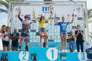 Sandra Heredero ganadora de la vuelta cicloturista a Ibiza Campagnolo