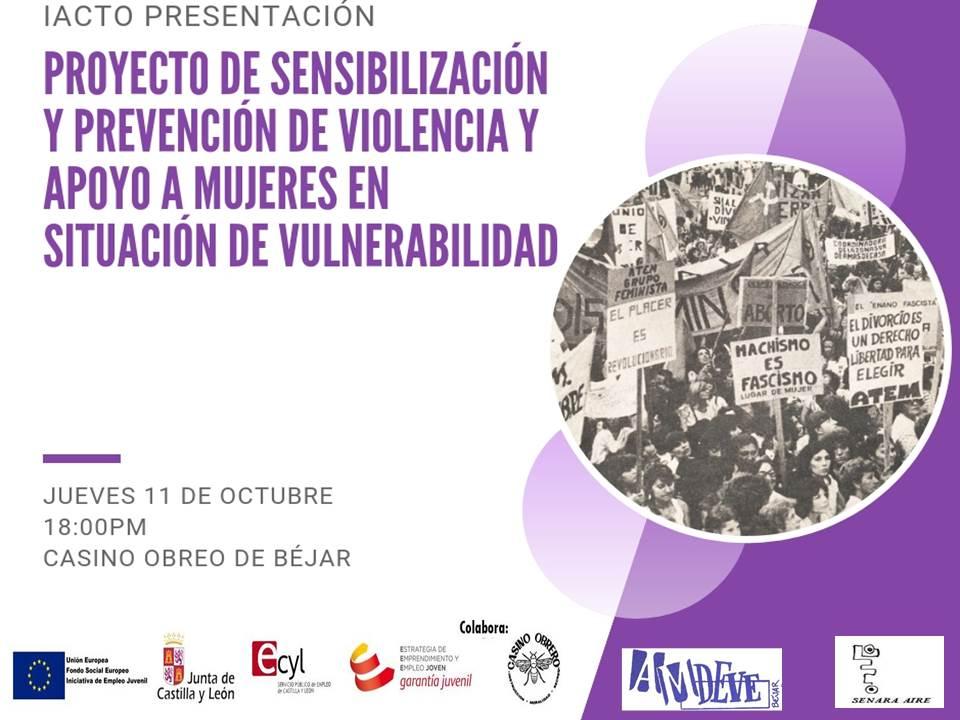 Proyecto de Sensibilización y Prevención de Violencia y Apoyo a Mujeres en Situación de Vulnerabilidad