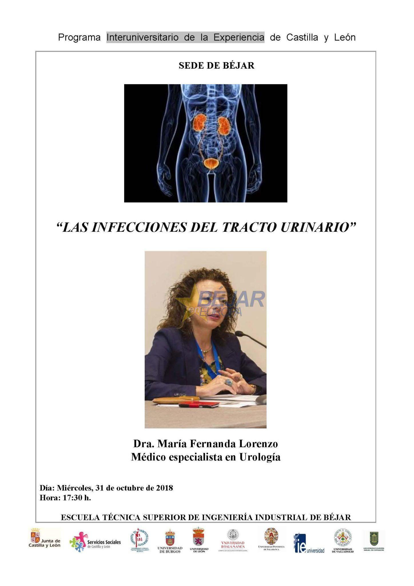 """Charla divulgativa de la Dra. María Fernanda Lorenzo sobre """"Infecciones del tracto urinario"""""""