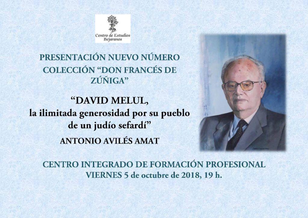 Presentación biografía sobre David Melul