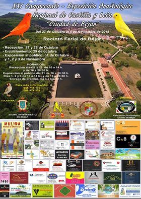 El XXI Campeonato – Exposición ornitológico Regional de Castilla y León tendrá lugar en Béjar