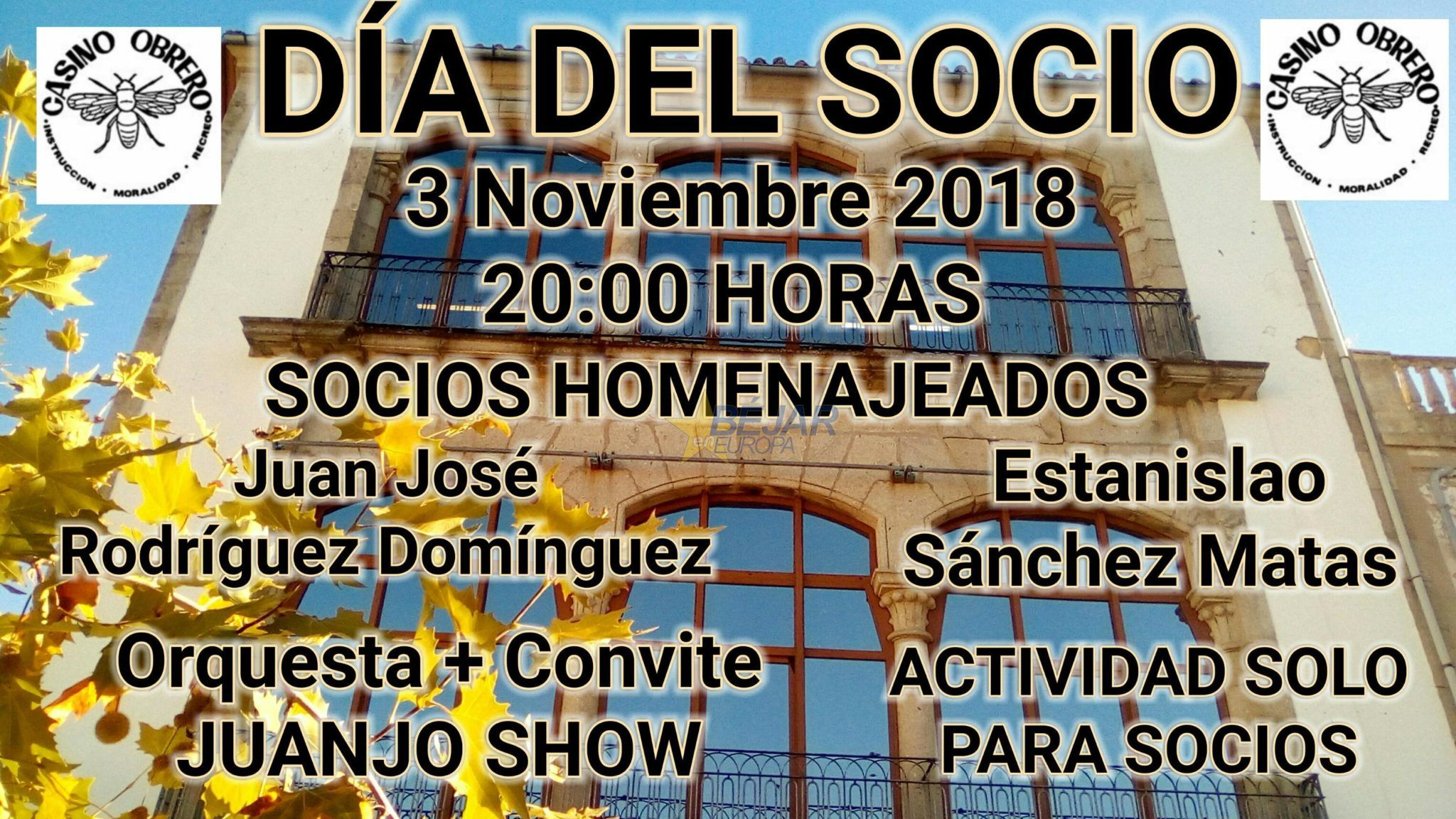 El Ateneo Cultural Casino Obrero de Béjar celebra el Día del Socio