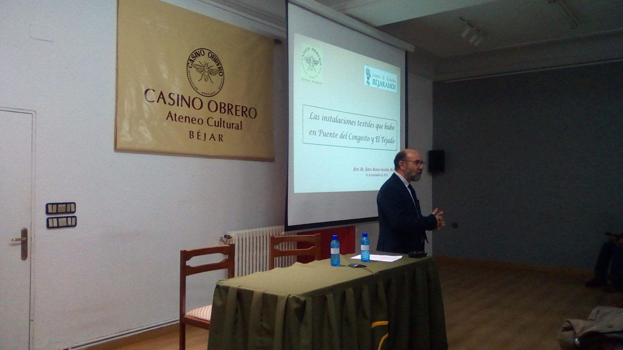 """Conferencia de Javier Ramón Sánchez sobre """"Las instalaciones textiles que hubo en Puente del Congosto y en El Tejado"""""""