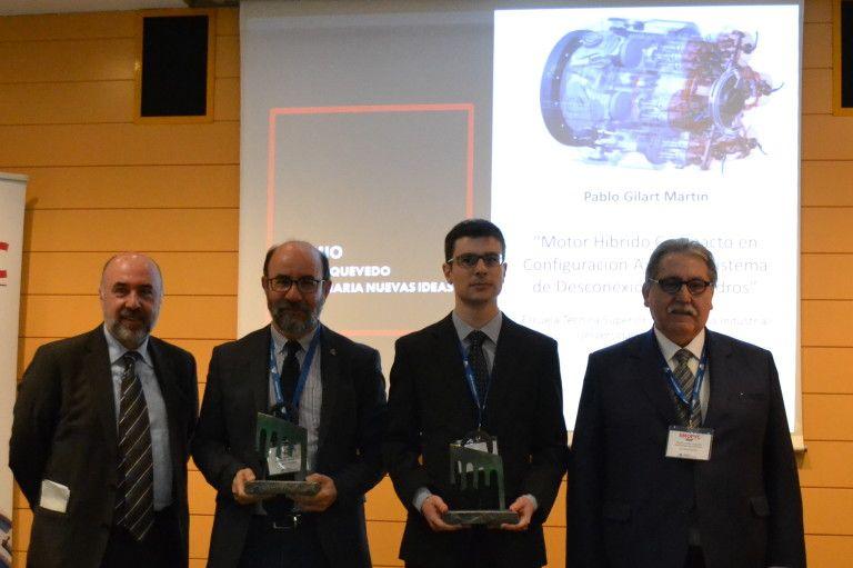 Pablo Gilart, estudiante de Máster e ingeniero industrial por la ETSII de Béjar, galardonado con el Premio Torres Quevedo