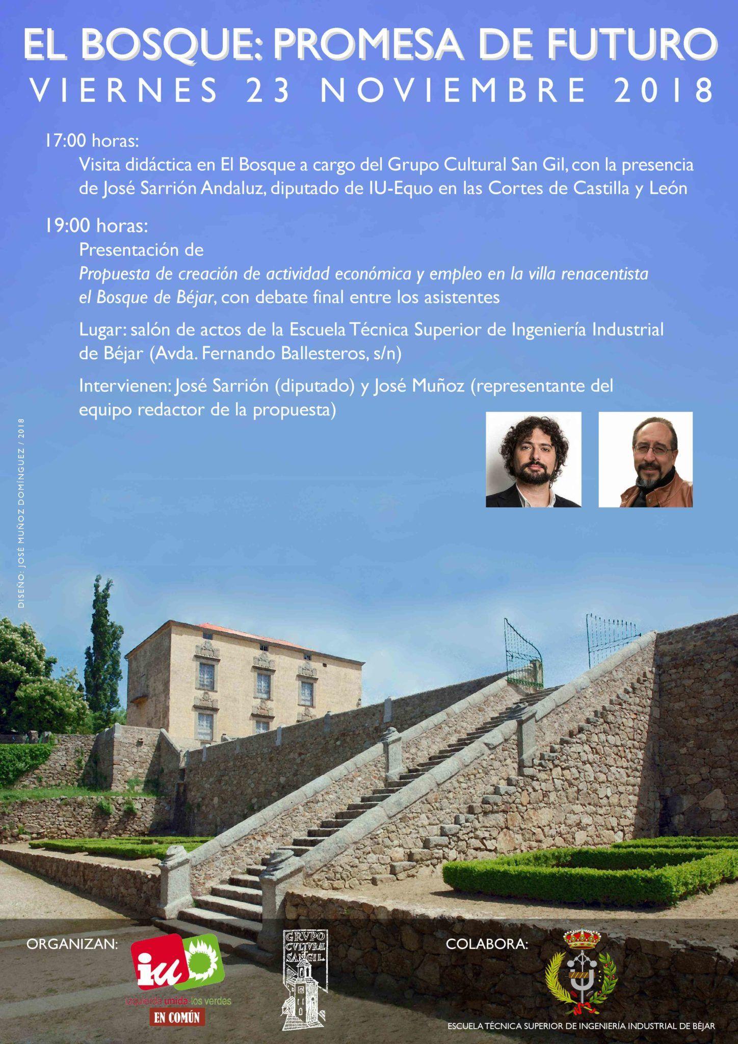 "El Grupo Cultural San Gil e IU desarrollarán dos actividades bajo el lema ""El Bosque: Promesa de Futuro"""