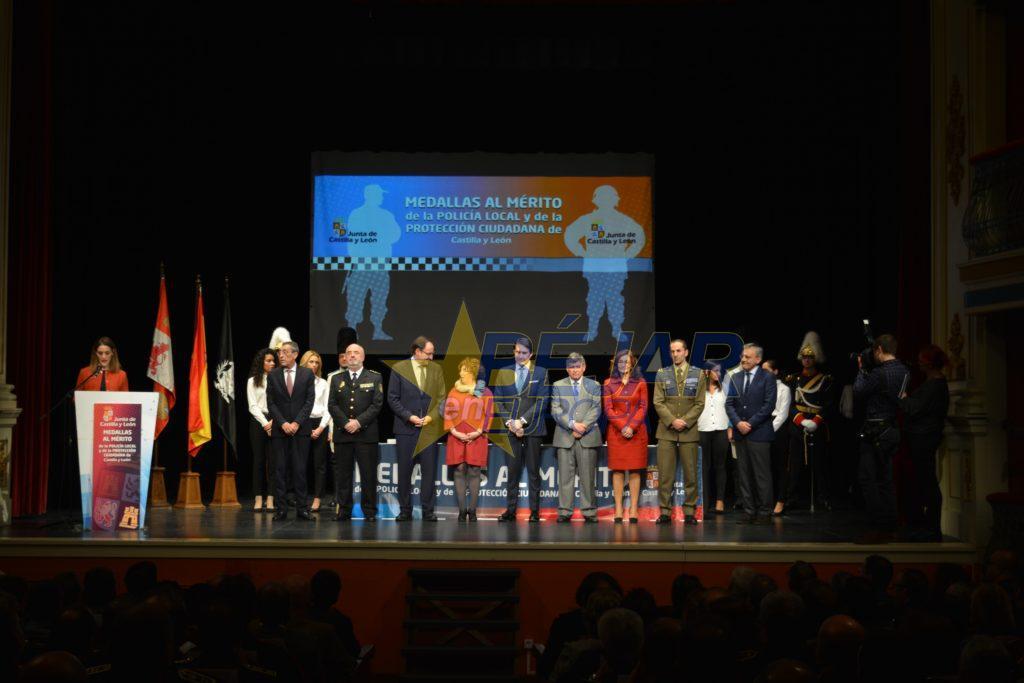 Béjar acoge la entrega de las medallas al Mérito de la Policía Local y al Mérito de la Protección Ciudadana