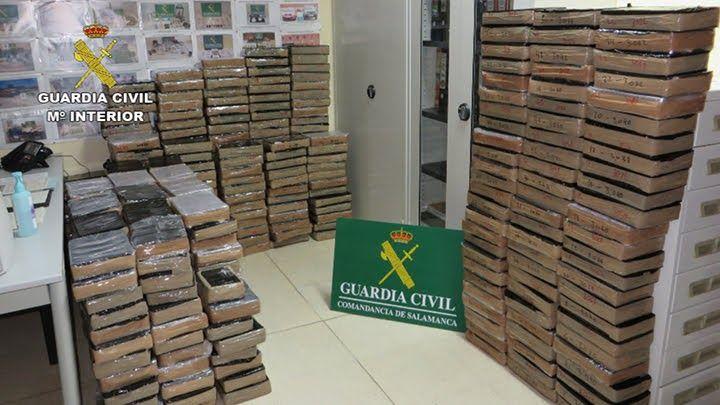 La Guardia Civil de Salamanca se incauta de 1.335 kilogramos de hachís