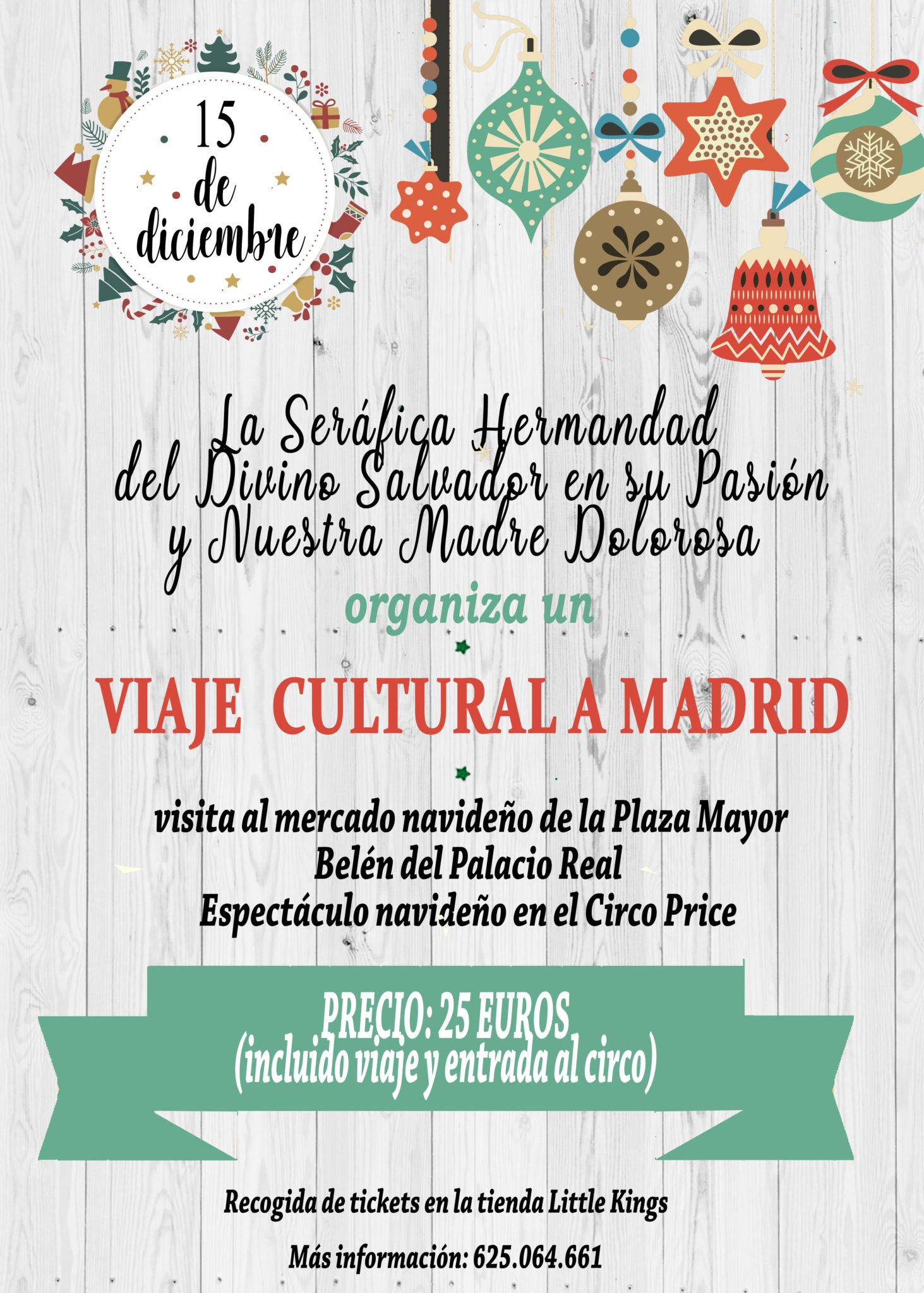 La Seráfica Hermandad de Béjar organiza una excursión cultural a Madrid para disfrutar del ambiente navideño