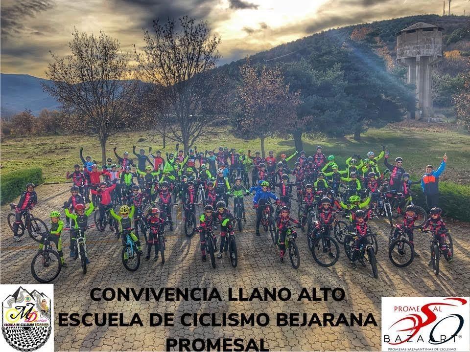 La Escuela de Ciclismo Bejarana y Promesal cierran un finde fantástico en Llano Alto