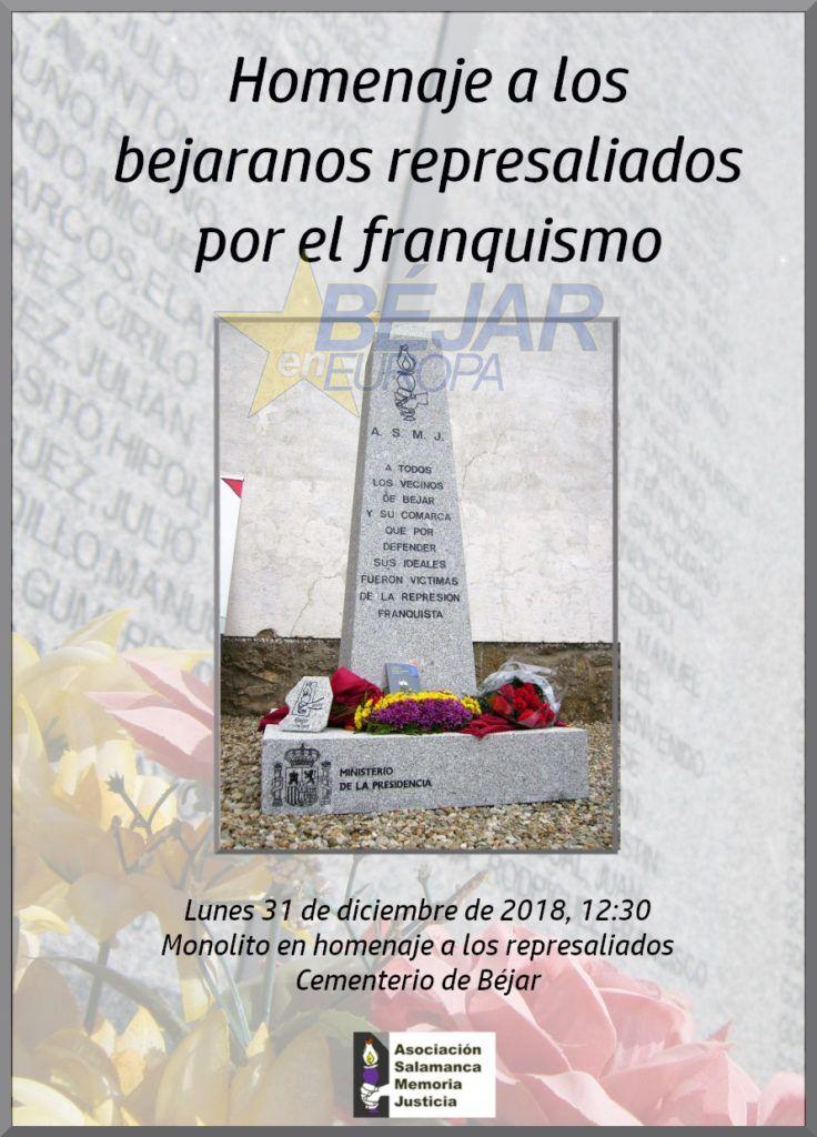 Homenaje a los bejaranos represaliados por el franquismo