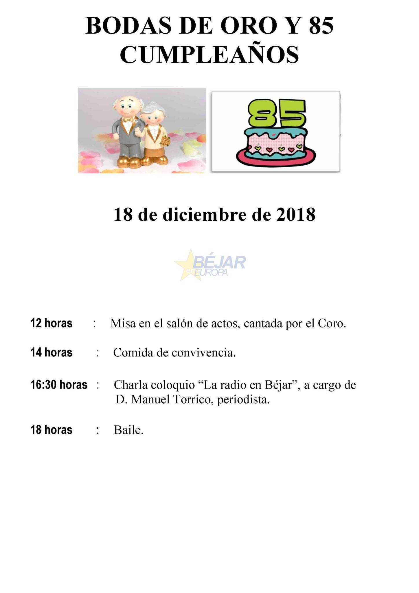 El Centro de Día celebra las Bodas de Oro y 85 Cumpleaños