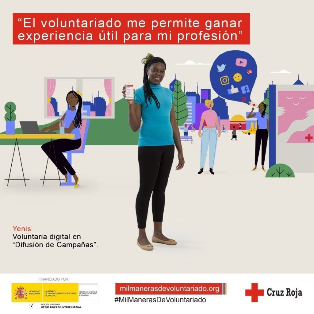 Cruz Roja lanza la campaña #MilManerasdeVoluntariado