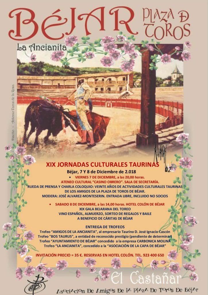 XIX Jornadas Culturales Taurinas organizadas por la Asociación Amigos de la Plaza de Toros de Béjar