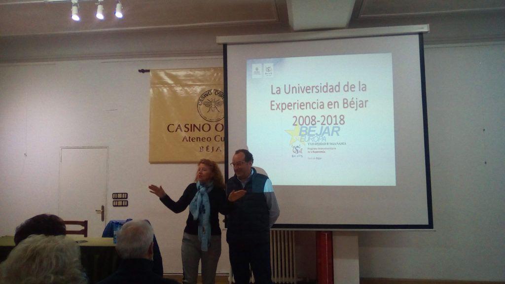 """conferencia impartida por D. Ramón Hernández Garrido bajo el título """"La Universidad de la Experiencia en Béjar"""""""