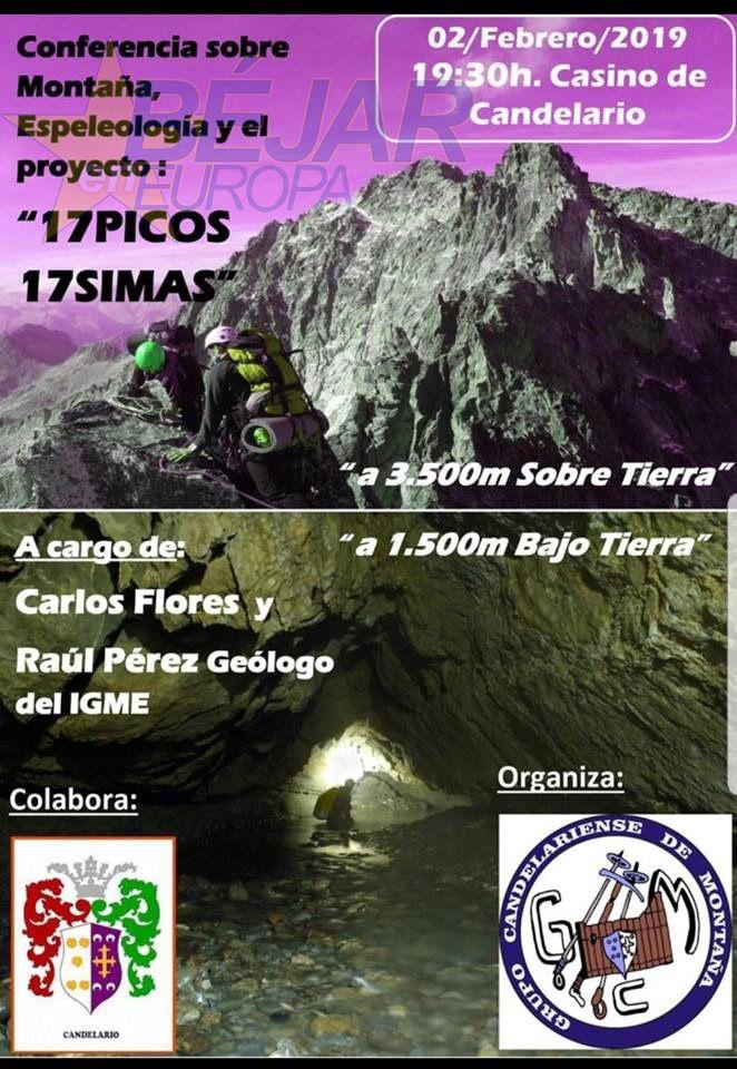 """Conferencia sobre Montaña, Espeleología y el proyecto: """"17 Picos 17 Simas"""""""