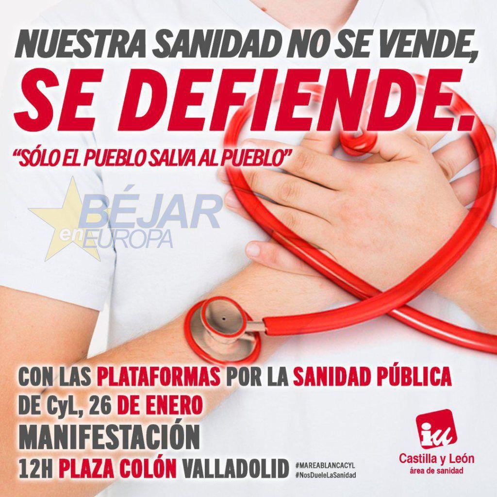 IU apoya y anima a participar en la marcha a Valladolid convocada por la Marea Blanca para el 26 de enero