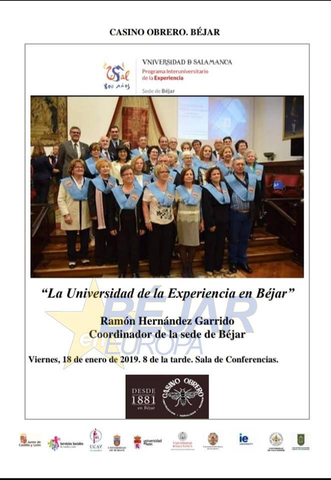 """Conferencia """"La Universidad de la Experiencia en Béjar"""""""