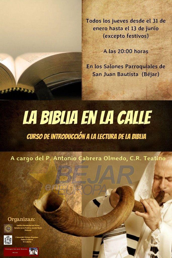 """Curso, """"La Biblia en la Calle, curso de introducción a la lectura de la Biblia"""""""