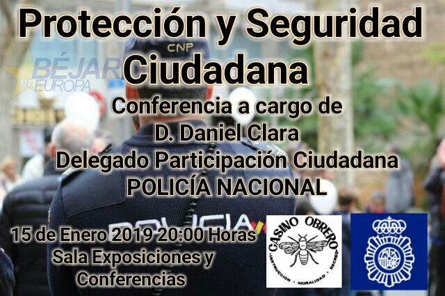 """Conferencia """"Protección y Seguridad Ciudadana"""""""