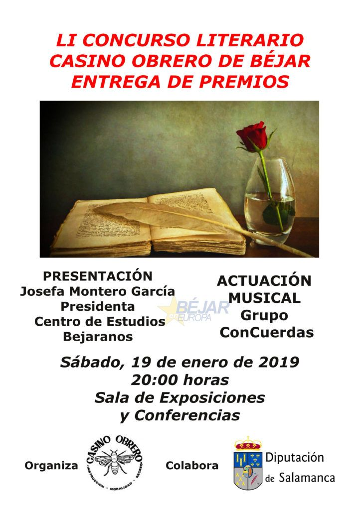 Entrega Premios LI Concurso Literario Casino Obrero de Béjar