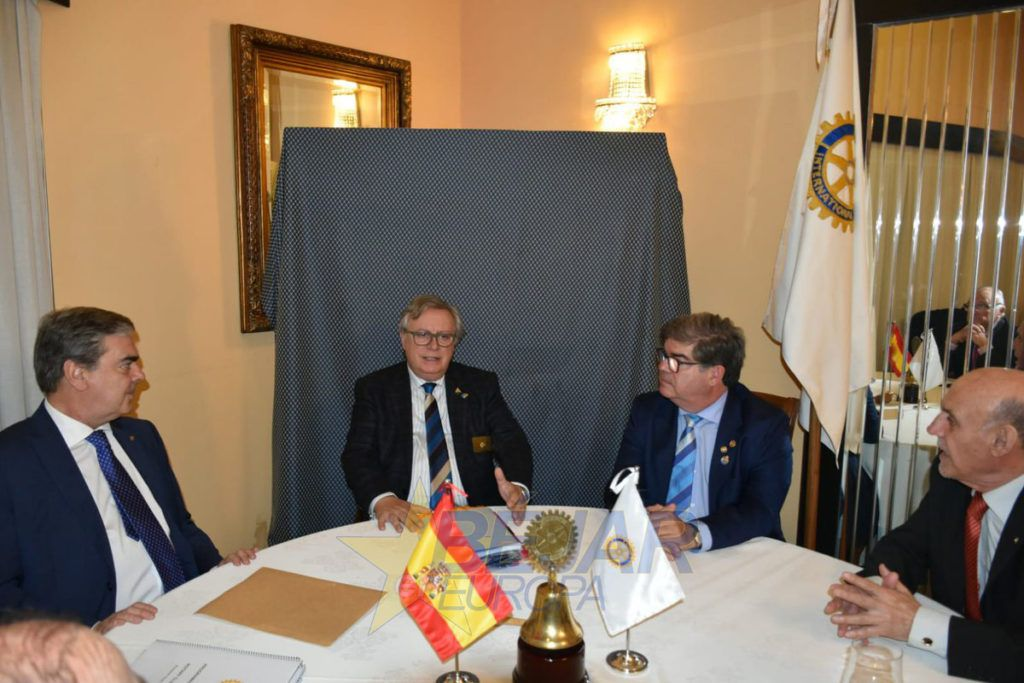 Visita a Béjar del gobernador de Rotary International