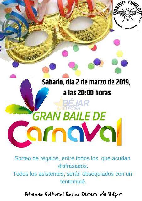 Cartel Canino Obrero Baile Carnaval