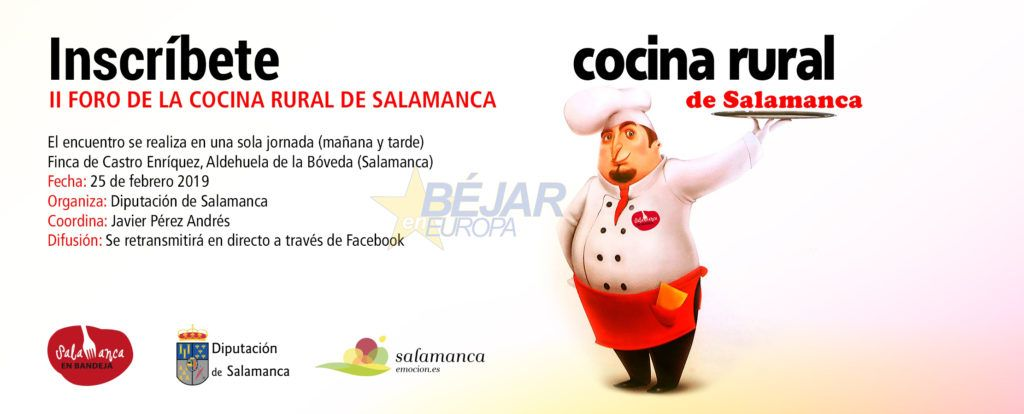 El II Foro de la Cocina Rural de Salamanca reunirá a cerca de 200 restaurantes de la provincia - Diputación Salamanca