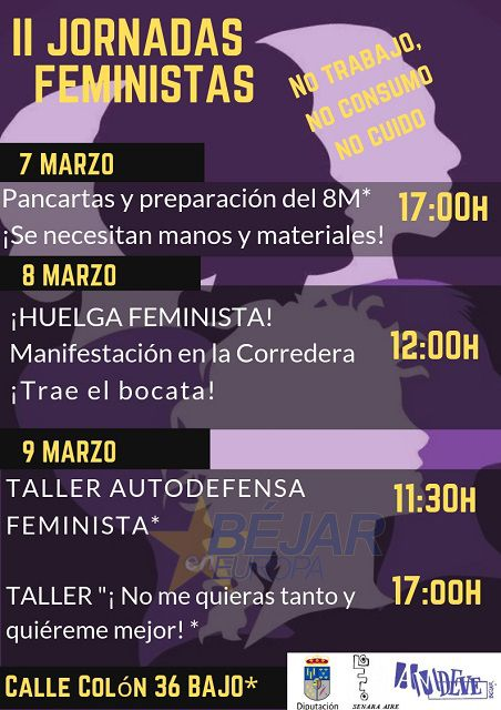 Segundas Jornadas Feministas organizadas por AMDEVE