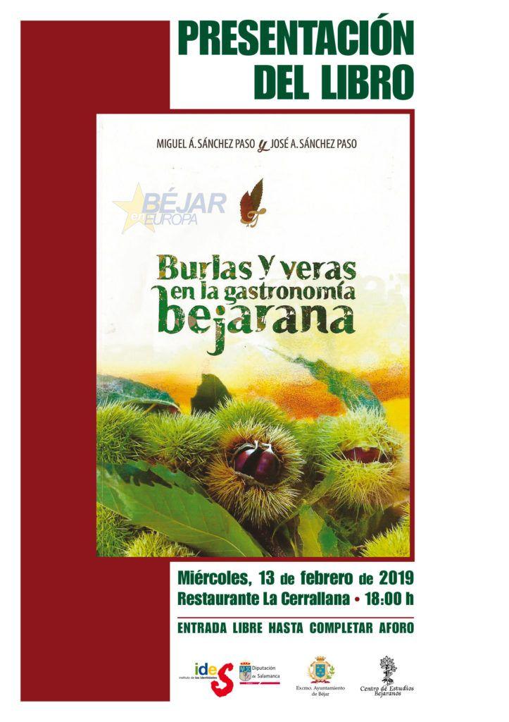 """Presentación del libro """"Burlas y veras en la gastronomía bejarana"""""""