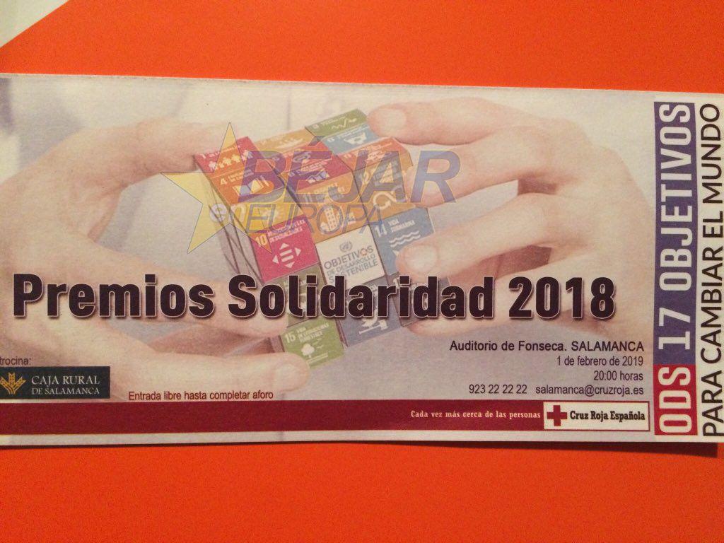 PREMIADOS en la XXIII Gala de los Premios Solidaridad 2018