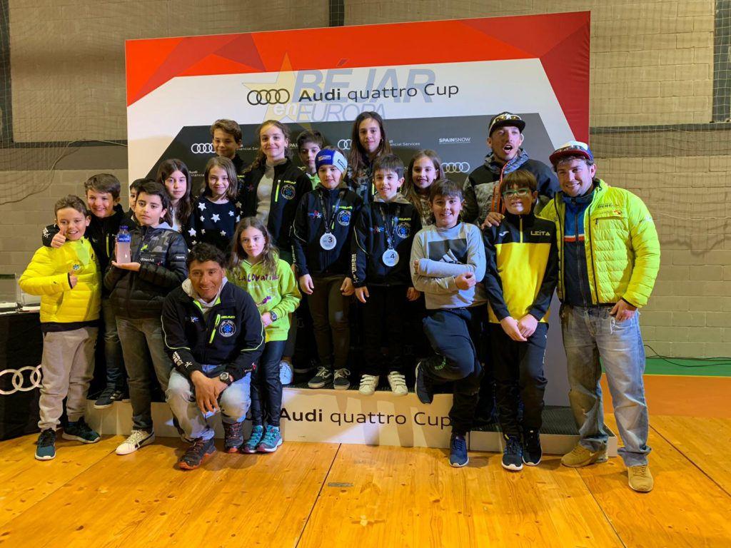 El equipo de alevines del Club de esquí La Covatilla realizaron un buen papel en la 2ª Fase de la Audi Quattro Cup