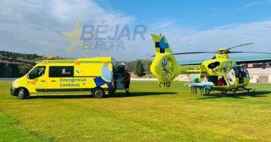 Evacuado en helicóptero a Valladolid tras una quema de rastrojos en Navalmoral de Béjar