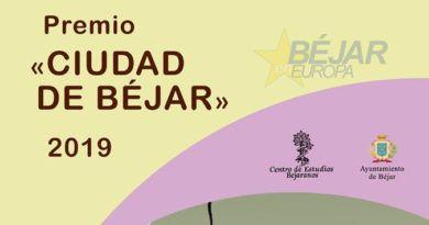 """Convocado el Premio """"Ciudad de Béjar"""" 2019, en su edición número XXIII"""