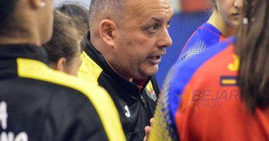 La selección nacional juvenil de balonmano en Béjar
