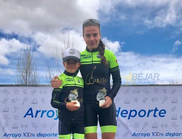 David Martín de la Escuela de Ciclismo Bejarana primero en Arroyo de la Encomienda