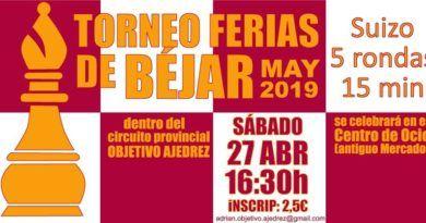 II Torneo de Ajedrez Ferias de Béjar de Mayo 2019