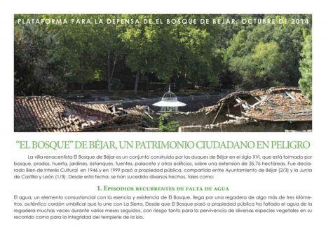 El Bosque de Béjar y la Lista Roja de Hispania Nostra