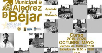 Abierto el período de matriculación de la Escuela Municipal de Ajedrez de Béjar