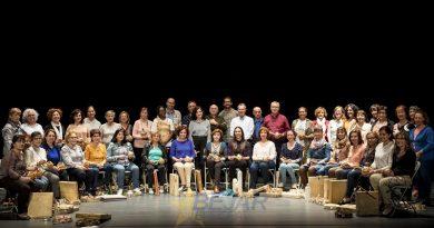 Alumnos de Canto y Percusión en un concierto en Villares de la Reina