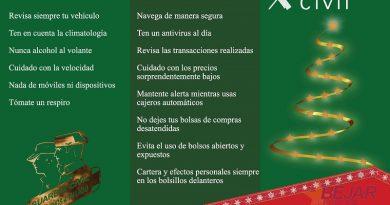 La Guardia Civil lanza la campaña 175 navidades a tu lado para unas fiestas seguras
