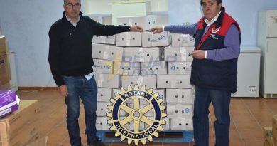 El Rotary Club de Béjar entrega 900 kilos de productos de cerdo ibérico