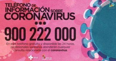 Teléfono Coronavirus jcyl
