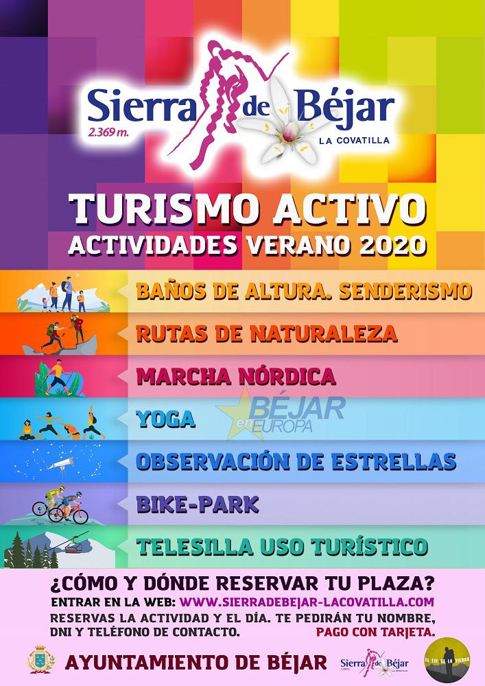 Programación en la estación de esquí Sierra de Béjar – La Covatilla para el verano de 2020