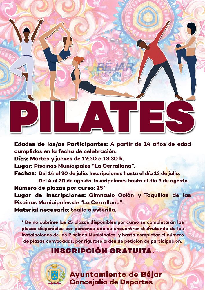 """Cursos de pilates en las Piscinas Municipales de """"La Cerrallana"""""""