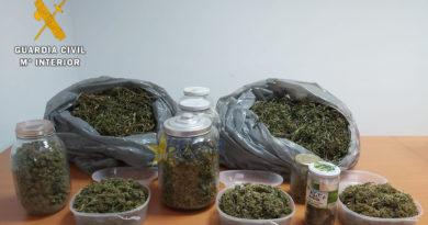 La guardia civil desarticula un punto de venta de droga