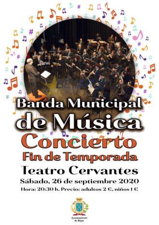La banda municipal ofrecerá un concierto fin de temporada
