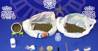 Detenido un joven con cocaína y 500 gramos de marihuana