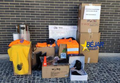 La Agrupación de Protección Civil Béjar recibe de la Junta 1.823,94 euros en material y vestuario