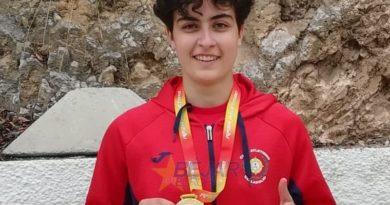 María Durán, entrenada por el bejarano Valentín Tejedor, campeona de España en Jabalina Sub 23